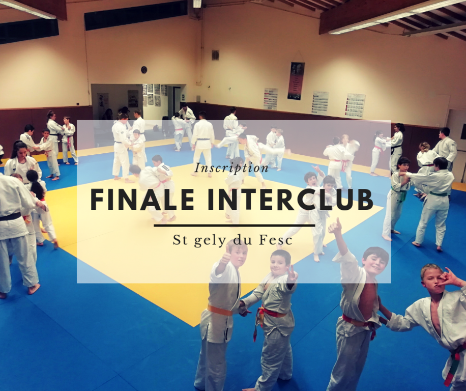 INSCRIPTION FINALE DES INTERCLUB